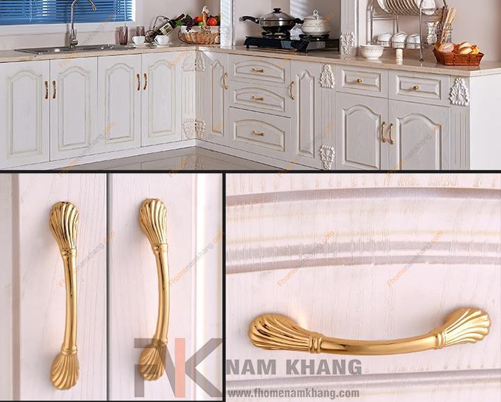 Bộ sưu tập tay nắm tủ mạ vàng - Điểm sáng trong thiết kế nội thất tủ kệ.