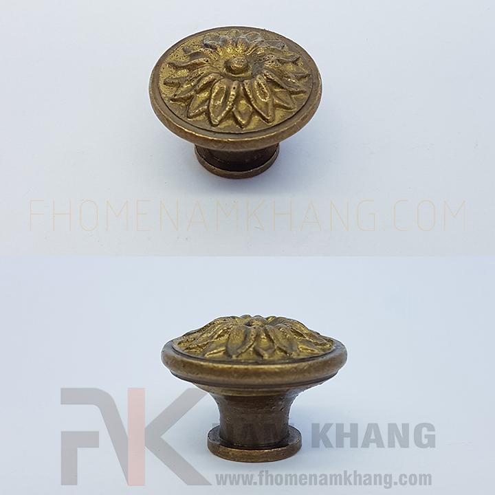 Núm nắm tủ hoa đồng cổ NKD049 - Phụ kiện nhà cửa